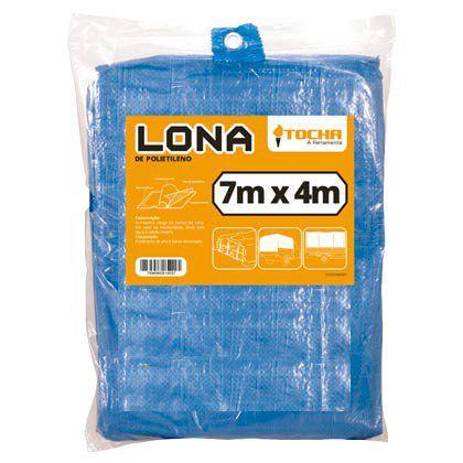Lona de Polietileno Tocha 7x4m Azul