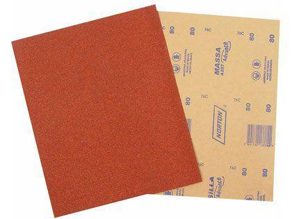 Lixa para Massa Parede/Drywall Grão 220 Norton A257 Pacote com 50 Folhas