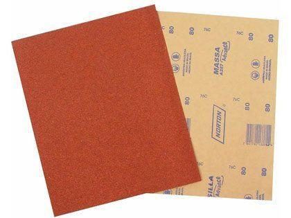 Lixa para Massa Parede/Drywall Grão 80 Norton A257 Pacote com 50 Folhas