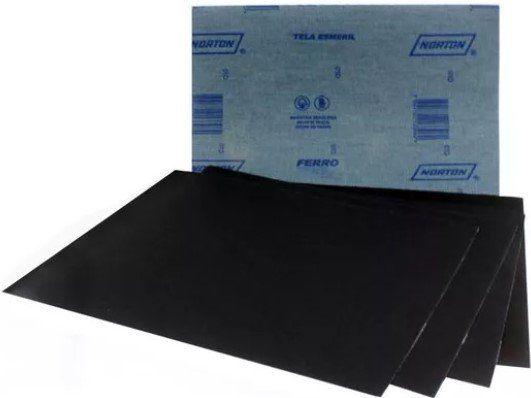Lixa para Metal Grão 100 Norton T246 Pacote com 25 Folhas