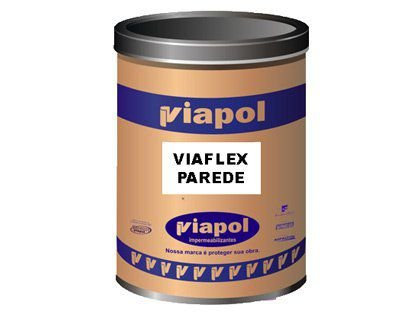 Impermeabilizante de Fachada Viaflex Viaplus Parede Caixa com 18Kg