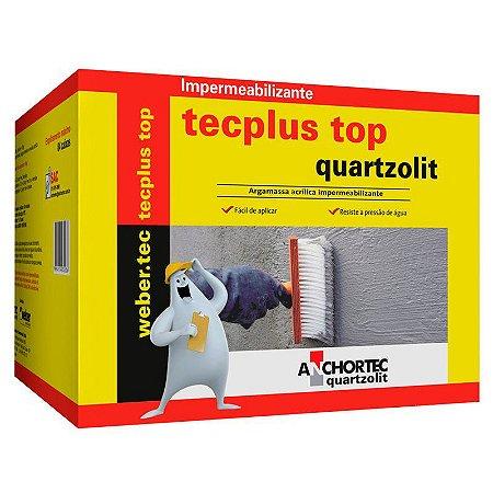 Impermeabilizante Tecplus Quartzolit Top Caixa com 18Kg