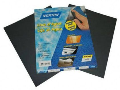 Lixa para Metal D'água Grão 280 Norton T223 Pacote com 50 Folhas