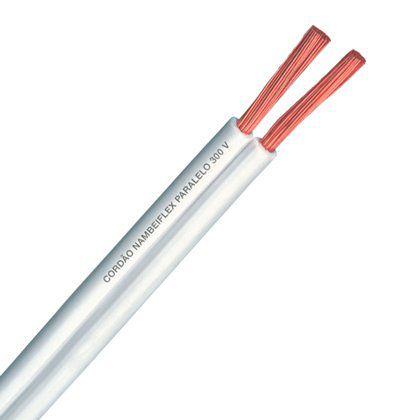 Fio Cordão Paralelo  Fcondutores 2 X 0,75mm 300V NBR 13249 Branco Rolo 100 Metros