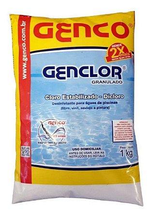 Cloro Granulado Estabilizado Dicloro Genclor 01Kg