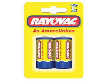 Pilhas Rayovac Média Tipo C Embalagem com 02 unidades