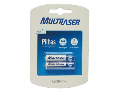 Pilhas Recarregaveis Multilaser CB052 Palito AAA com 02 Pilhas