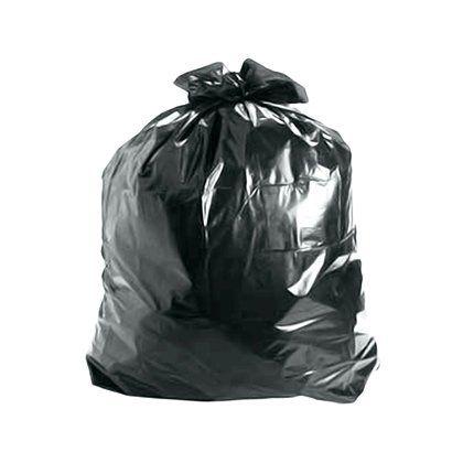 Saco de Lixo Preto 100 Litros 75x90cm Reforçado Pacote com 100 unidades
