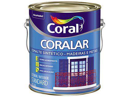 Esmalte Sintético Coralar Brilhante Vermelho Goya Galão 3,6L