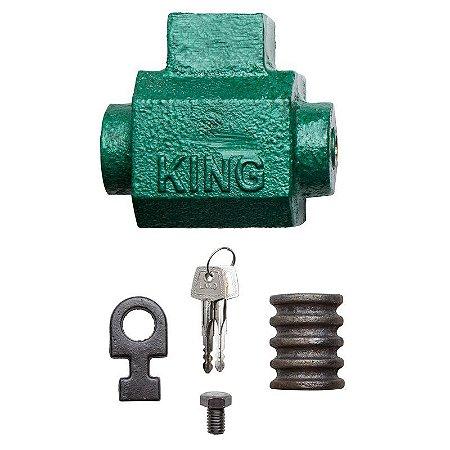 Cadeado de Chão King Para Porta de Enrolar Com Chave Tetra