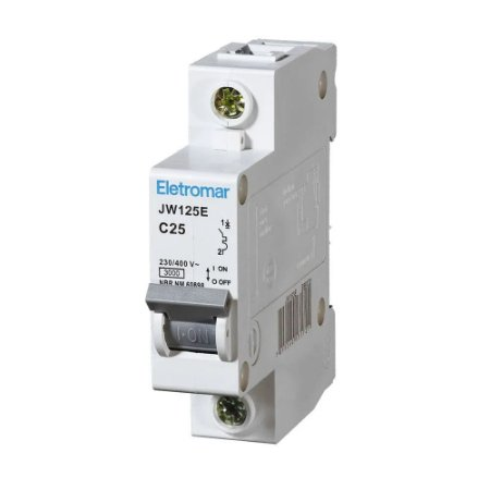 Disjuntor Din Monopolar Eletromar 220-400V 25A Curva C 12 unidades