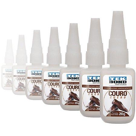 Cola Super Tek Bond Tek Couro 20g Caixa com 10 Unidades