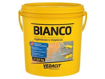 Bianco Líquido Vedacit para Argamassa e Chapisco 3,6kg com 04 Galões
