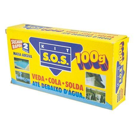 Kit SOS Massa Adesiva Secagem Rápida Vedatudo 100g  06 Unidades