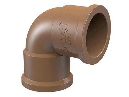 Joelho 90° Tigre PVC Soldável 40mm Embalagem com 15 Unidades