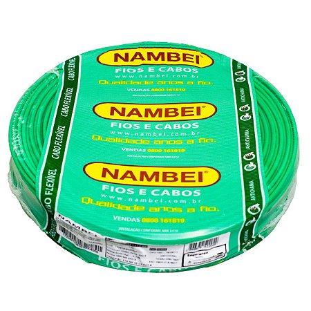 Fio Flexível Nambeiflex Nambei Verde 10,00mm 450/750V Rolo 100 Metros