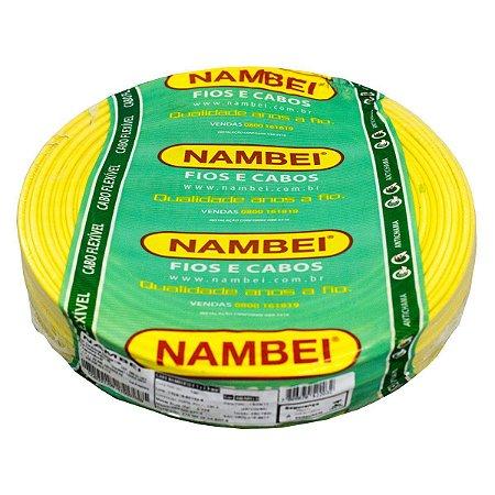 Fio Flexível Nambeiflex Nambei Amarelo 1,50mm 450/750V Rolo com 100 Metros