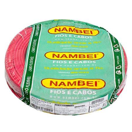 Fio Flexível Nambeiflex Nambei Vermelho 1,0mm 450/750V Rolo com 100 Metros