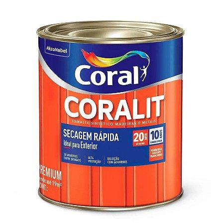 Esmalte Sintético Coralit Secagem Rápida Brilhante Branco 1/32 com 12 Unidades