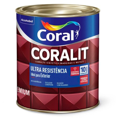 Esmalte Sintético Coralit Ultra Resistência Alto Brilho Tabaco 1/16 com 12 Unidades