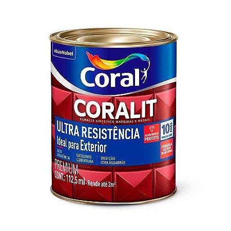 Esmalte Sintético Coralit Ultra Resistência Alto Brilho Preto 1/32 com 12 Unidades