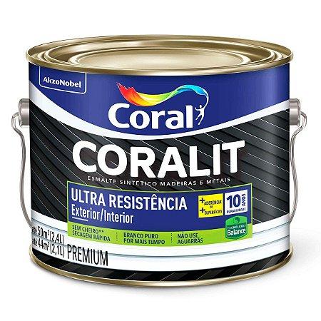 Esmalte Sintético Coralit Ultra Resistência Balance Brilhante Platina Galão 2,4 Litros