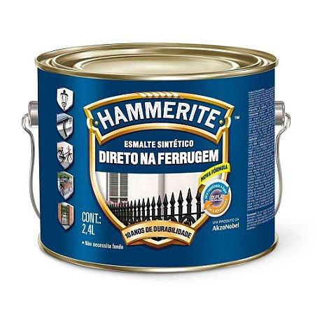 Esmalte Sintético Hammerite Direto na Ferrugem Prata Galão 2,4 Litros