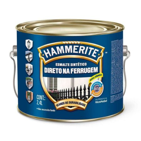 Esmalte Sintético Hammerite Direto na Ferrugem Verde Galão 2,4 Litros