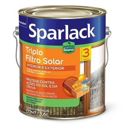 Verniz Sparlack Triplo Filtro Solar Balance Acetinado Natural Galão 3,6 Litros