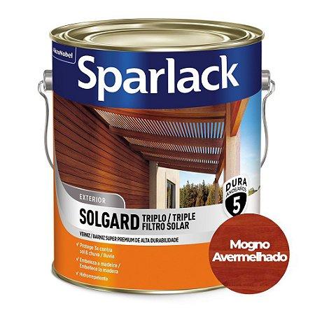 Verniz Sparlack Triplo Filtro Solar Solgard Acetinado Mogno Avermelhado Galão 3,6 Litros