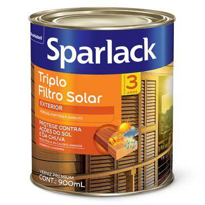 Verniz Sparlack Triplo Filtro Solar Acetinado Jacarandá 900ml com 06 Unidades