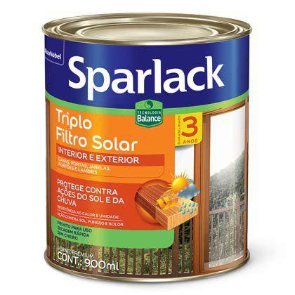 Verniz Sparlack Triplo Filtro Solar Brilhante Natural 900ml com 06 Unidades