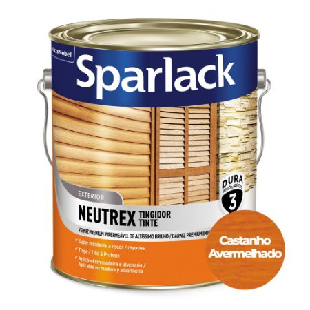Verniz Sparlack Neutrex Brilhante Castanho Avermelhado Galão 3,6 Litros