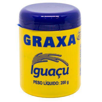 Graxa Iguaçu para Uso Geral Marrom 200g Caixa com 12 Unidades