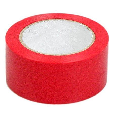 Fita Adesiva Koretech para Embalagem 45mm x 40m Vermelha Kit com 05 Unidades