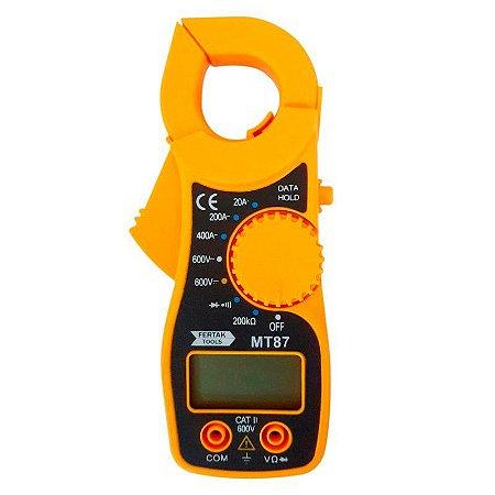 Multímetro Digital Com Alicate Amperímetro Fertak MT 87