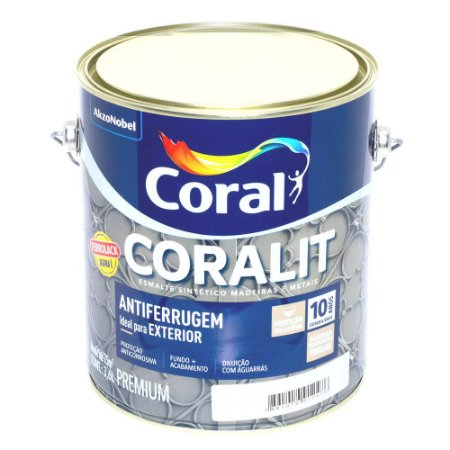 Esmalte Sintético Coralit Ultra Resistência Balance Brilhante Preto Galão 2,4 Litros