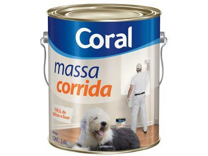 Massa Corrida Coral PVA para Pintura Galão 3,6 Litros 04 unidades