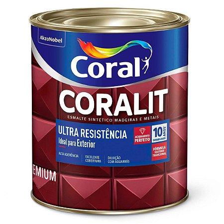 Esmalte Sintético Coralit Ultra Resistência Alto Brilho Marrom 1/16 com 12 Unidades