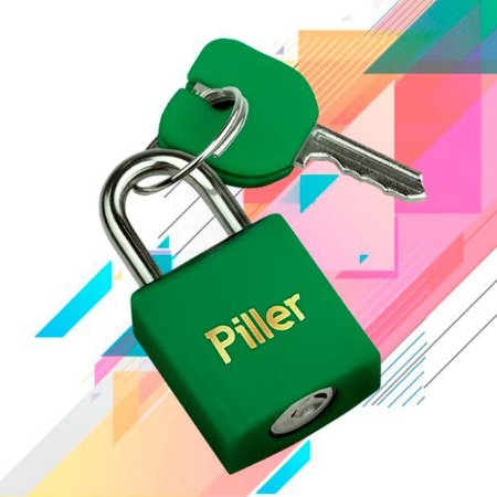 Cadeado Piller Verde 20mm
