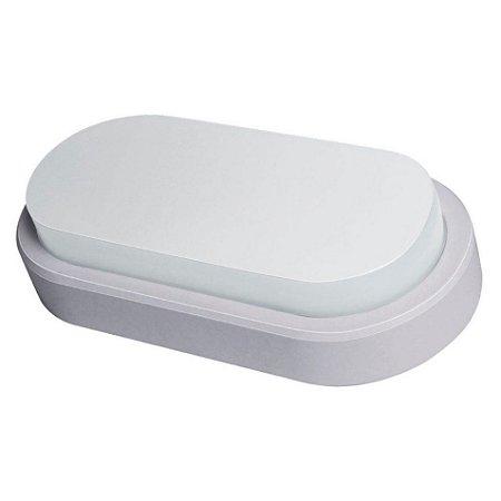 Arandela Oval Flat LED Demi 14w Bivolt 6500K Branca