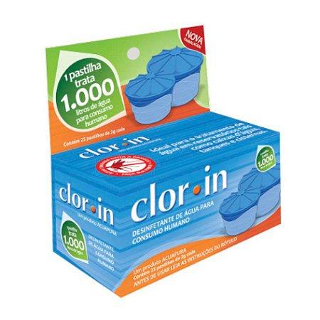 Cloro Clorin para 1000 Litros d'Água Embalagem com 25 Pastilhas