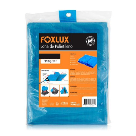 Lona de Polietileno Foxlux 6x4m Azul