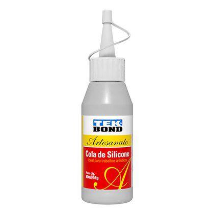 Cola Silicone Tek Bond Artesanato 51g/60ml Caixa com 12 Unidades
