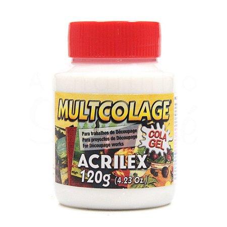 Cola Acrilex Multicolage 120g Caixa com 06 Unidades