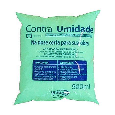 Impermeabilizante Viapol Contra Umidade Saco 500ml Caixa com 36 Unidades