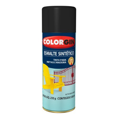 Spray Colorgin Esmalte Sintético 746 Preto