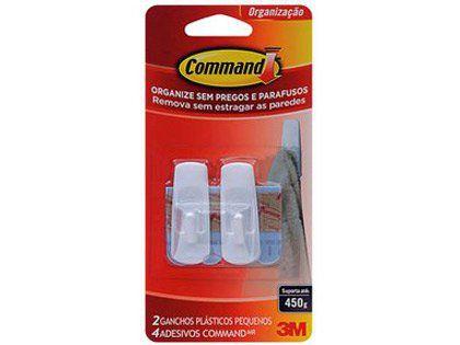 Gancho Adesivo 3M Command Branco Pequeno Embalagem com 02 Unidades