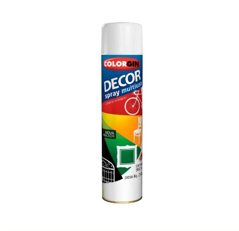 Tinta Spray Colorgin 884 Decor Branco Fosco