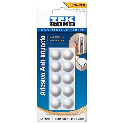 Adesivo Anti-Impacto Tek bond Bumper Redondo 15,7mm Cartela com 10 Unidades